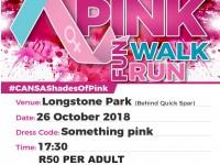 Shades of Pink Fun Walk / Run for CANSA