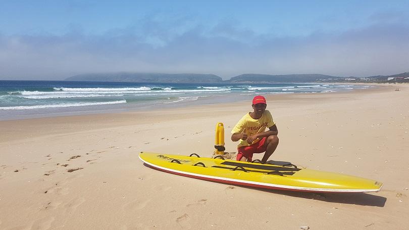 Plett Lifeguard, Byron Gorridon, on Plettenberg Bay's Blue Flag Beach – Robberg 5.