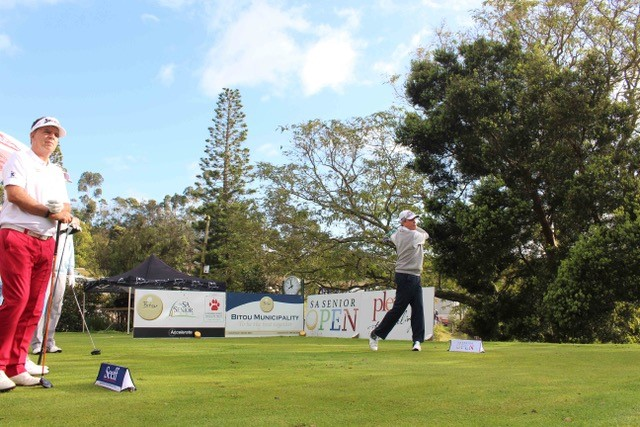 Mark McNulty tees off on Day 2 of the SA Senior Open 2018 in Plett