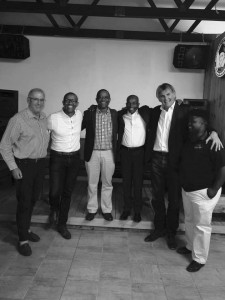 Andile, 2nd from left with Lance Rothschild, Lesley Jacobs, Memory Booysen, Peter Wallington and Wandisile Sebezo