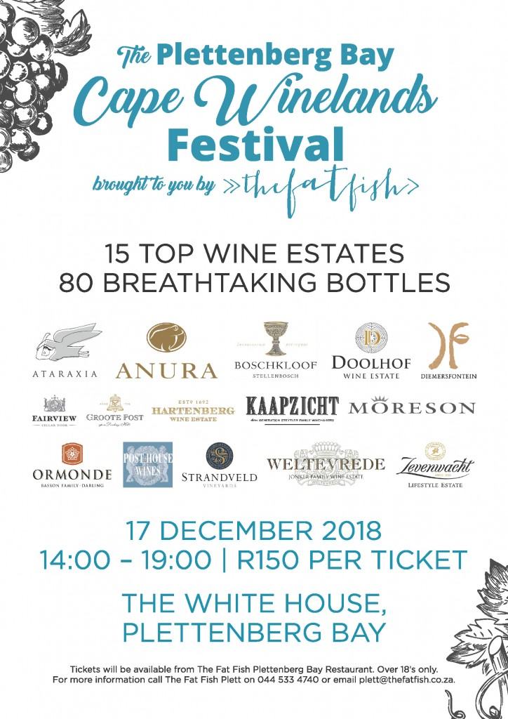 Cape Winelands Poster with Wine Estate Logos