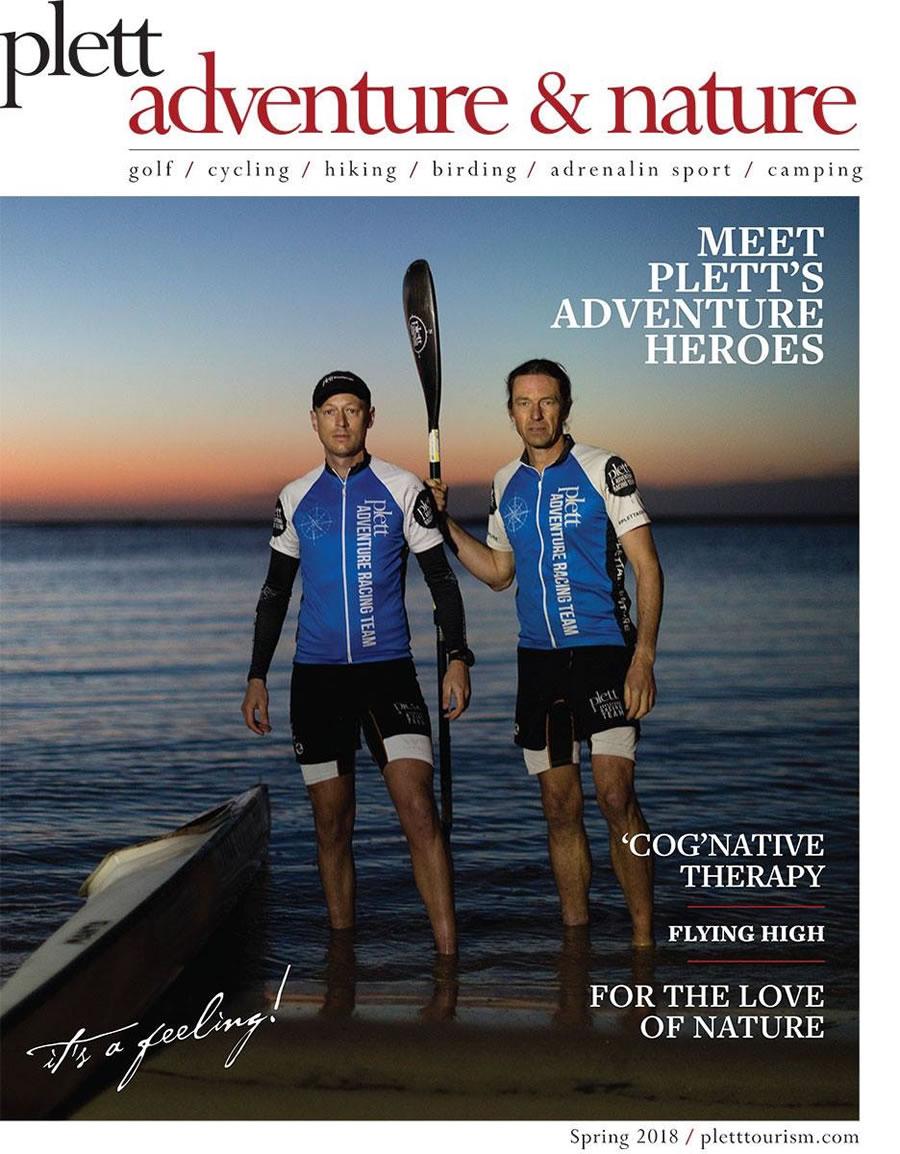 Plett Adventure Racing Team on cover of the Plett Tourism Adventure Magazine