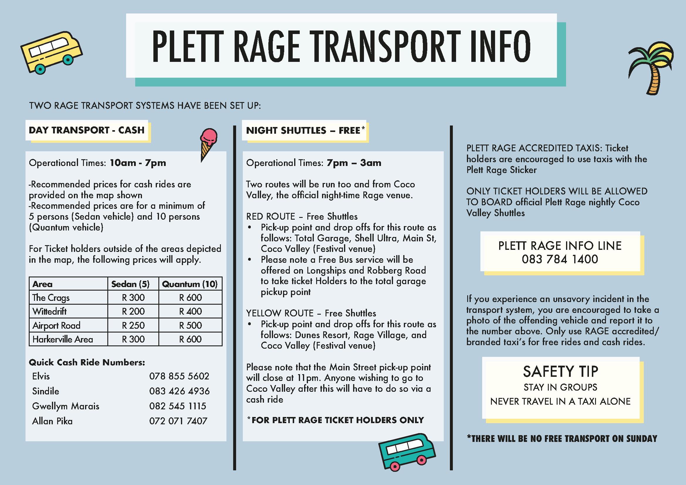 Plett Rage taxi transport information « Plett Rage taxi transport