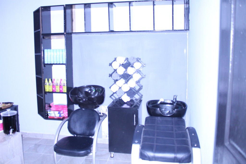 Inside AfroChick beauty salon in Kwanokuthula Plettenberg Bay