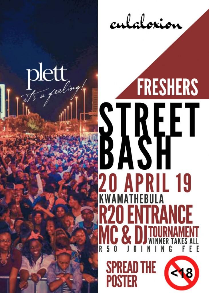 fresher's street bash poster