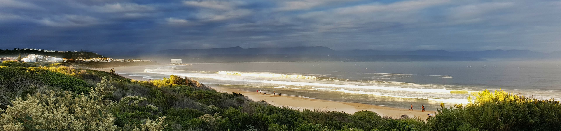 View of Plett from the stairs on Solar Beach, Robberg Beach