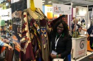 Thandi with an interesting visitor at WTM