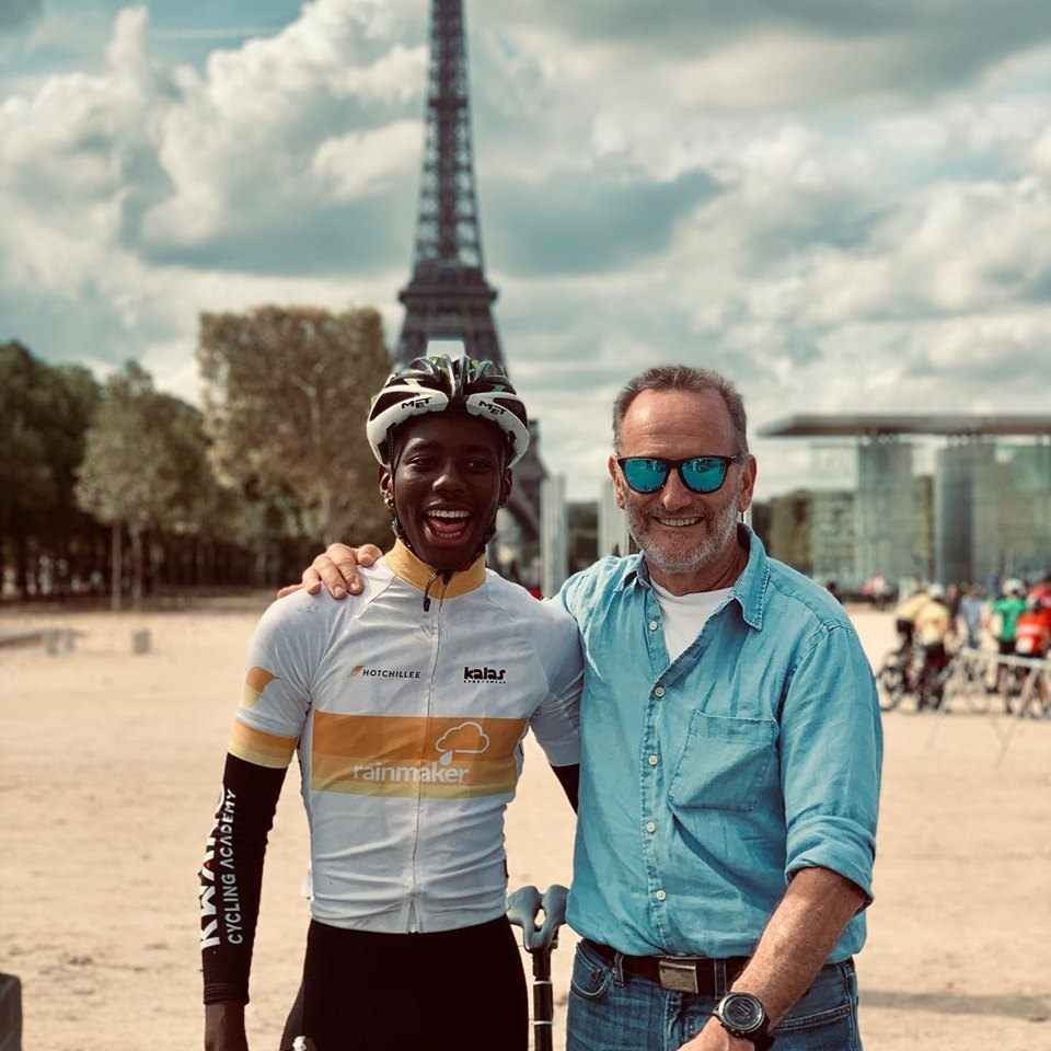 Siphe Ncapayi U23 GC winner of London-Paris cycle race