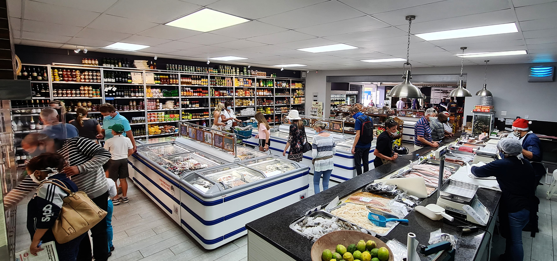 Robberg Fine Foods store from fish counter