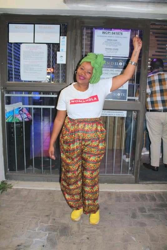 Wildene Jackson, organiser of the Sanitary Towel Campaign.