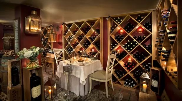 the plettenberg wine cellar for romantic dining