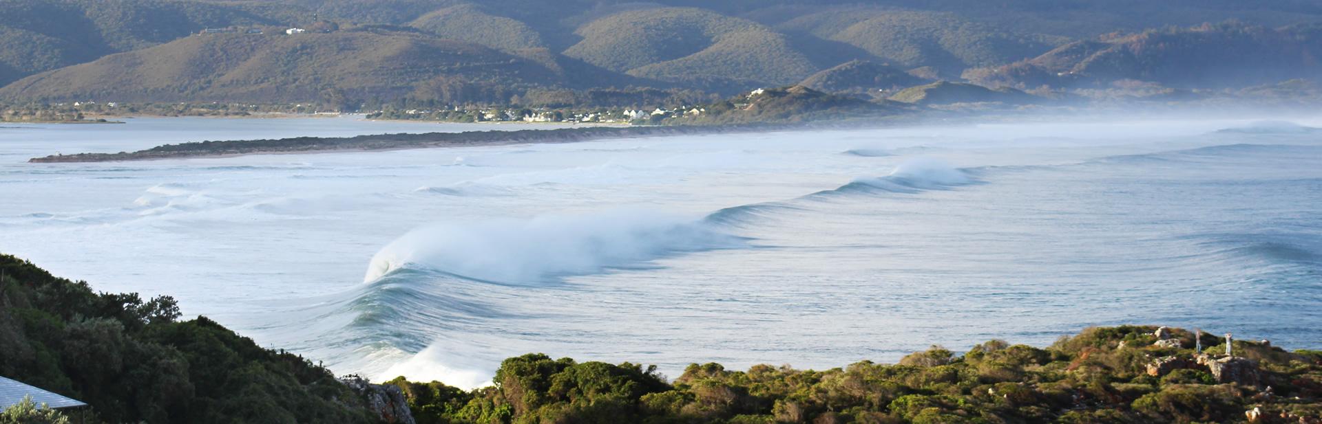 Waves in Plett in winter