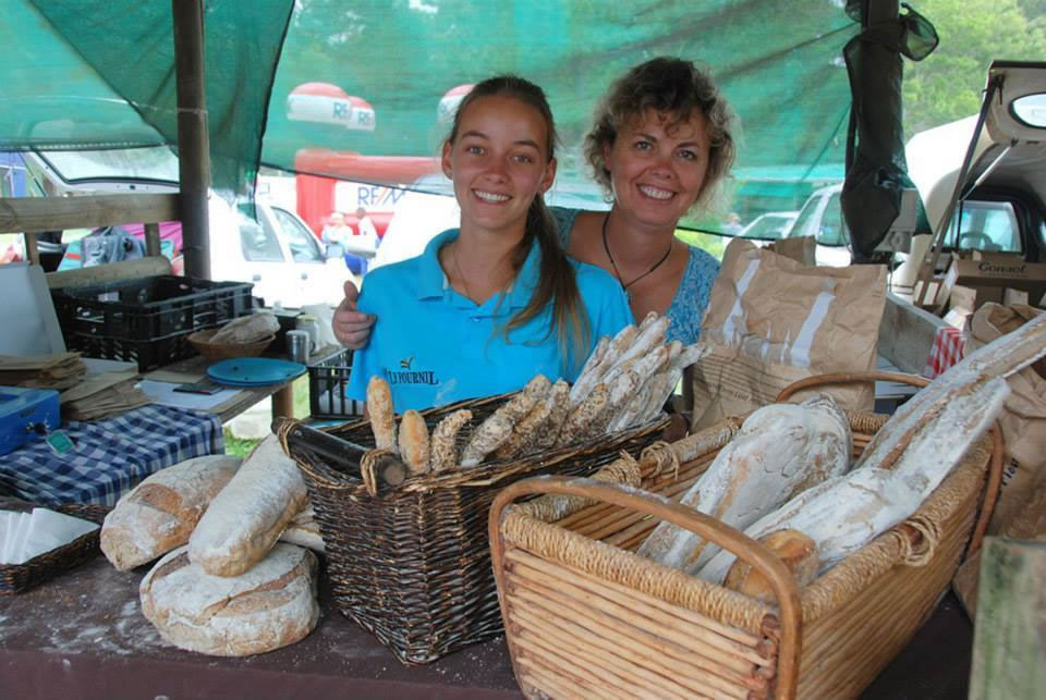 Freshly baked bread at Harkerville Saturday Market
