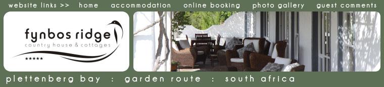 fynbos ridge accommodation plett