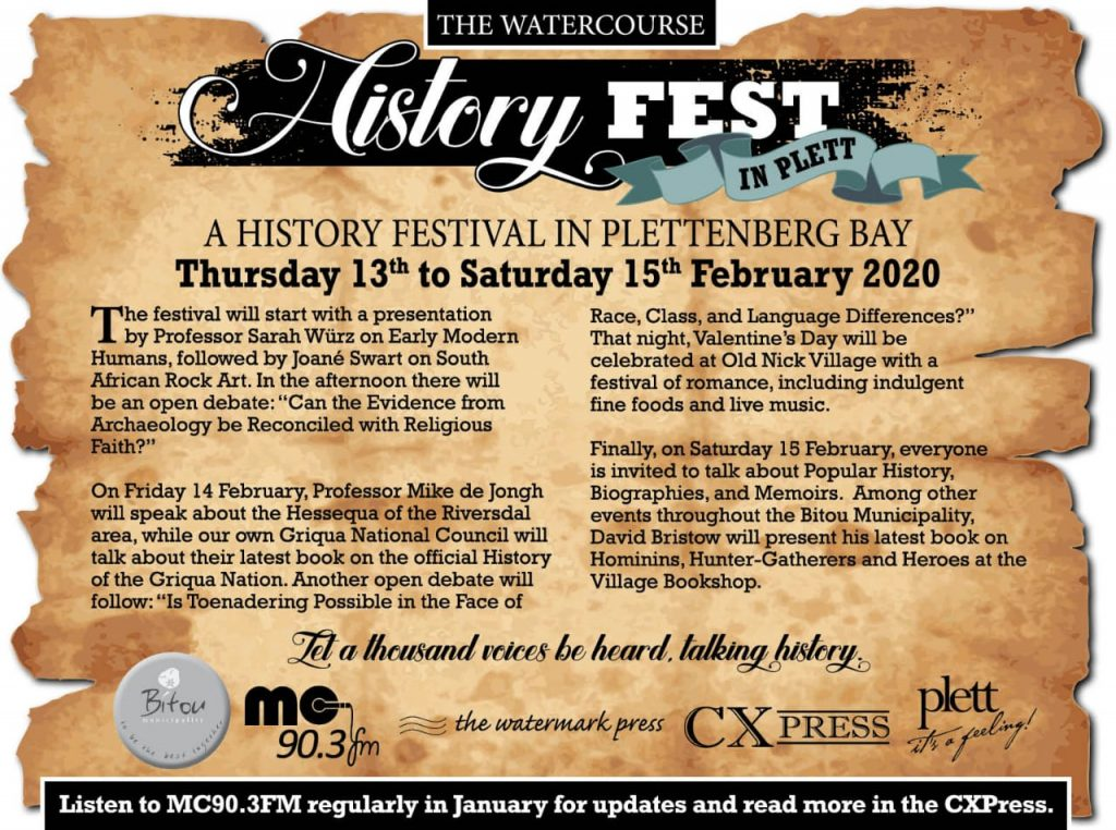 Watercourse History Festival in Plett