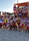 Handover of beach gear to lifeguards