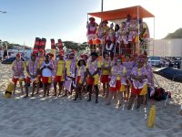 Handover of beach gear to lifeguards