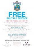 Lookout Deck free shuttle over festive season