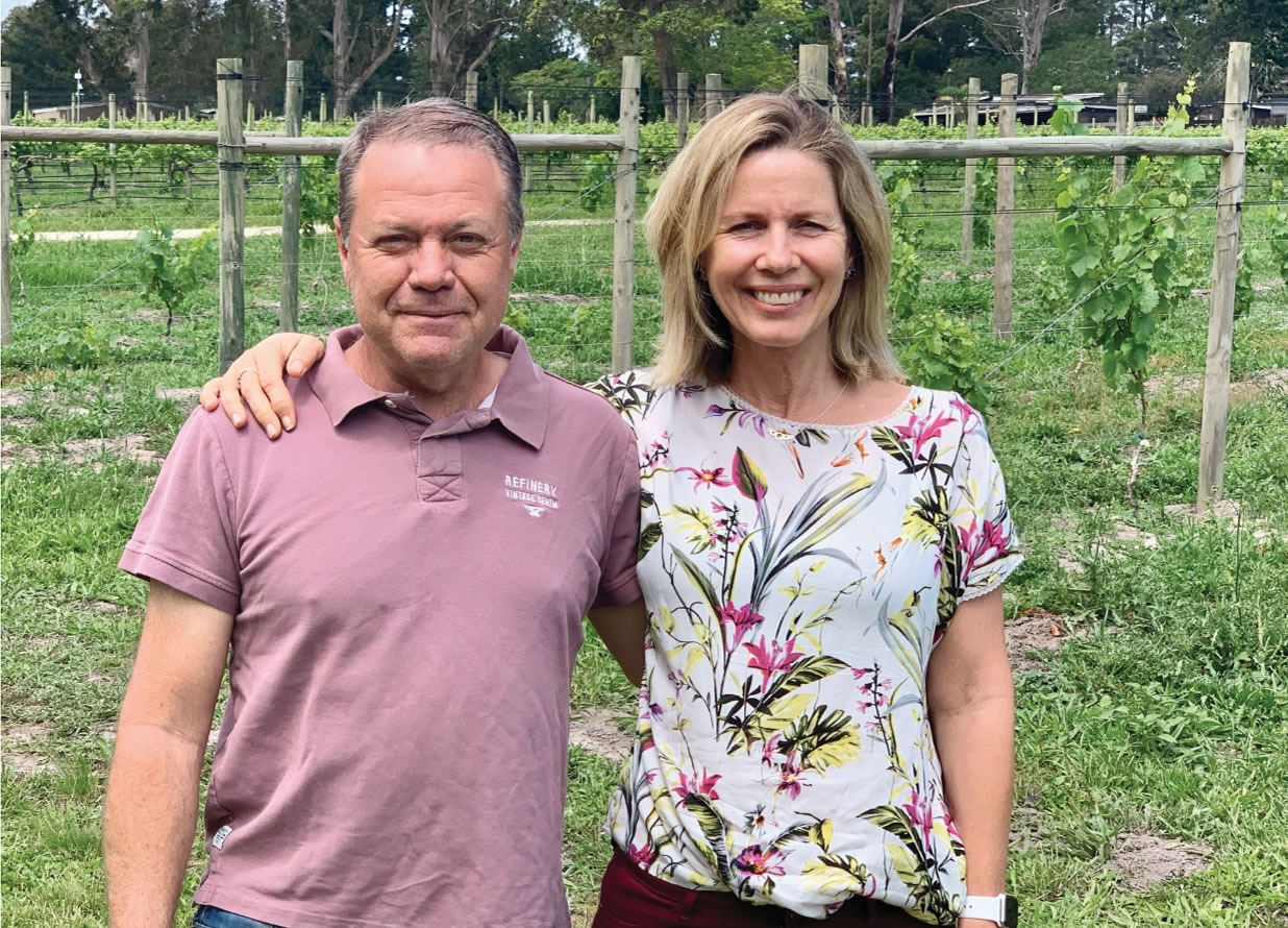 Luka wine farm new owners Philip and Laura Harvey