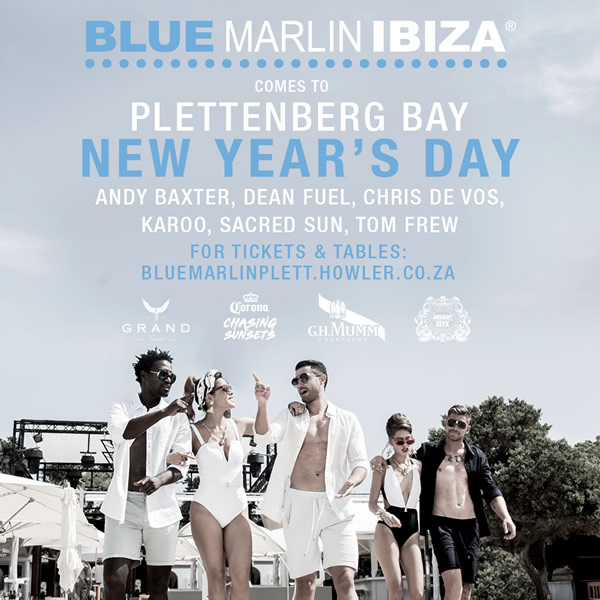 BLUE MARLIN - NYD 01.01.2020 Grand Africa Lookout Beach