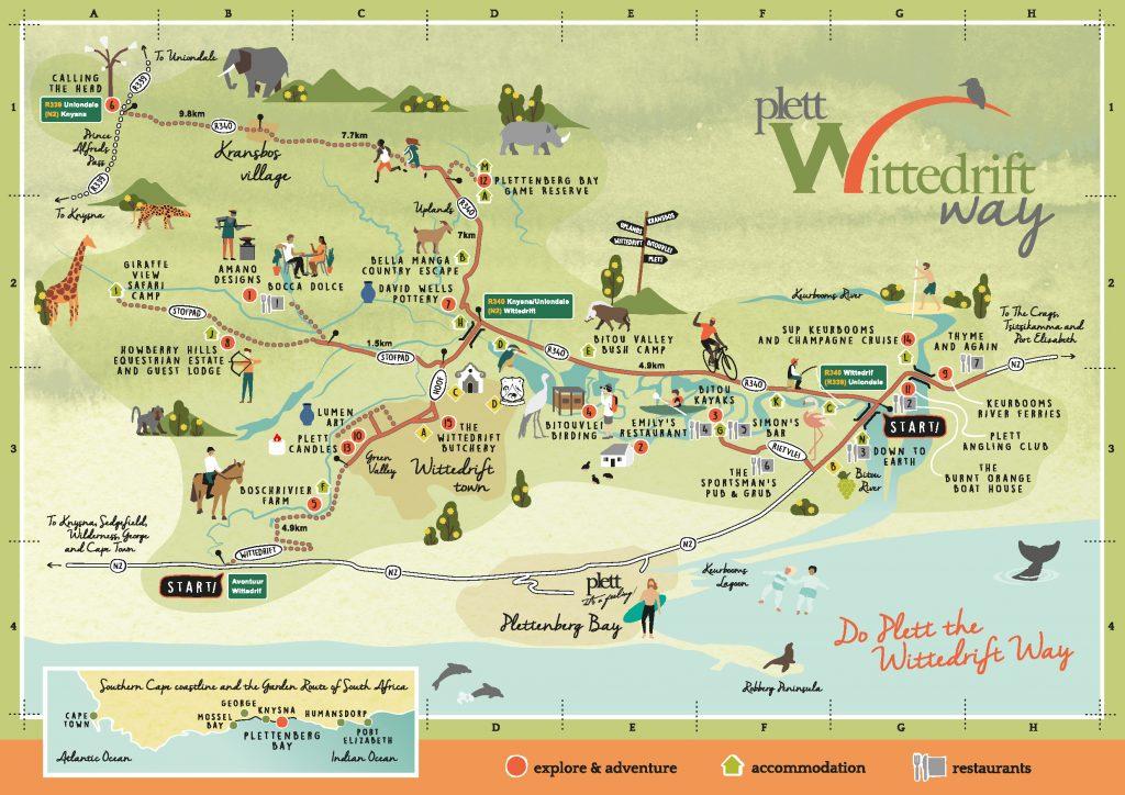 Wittedrift Way map 2019