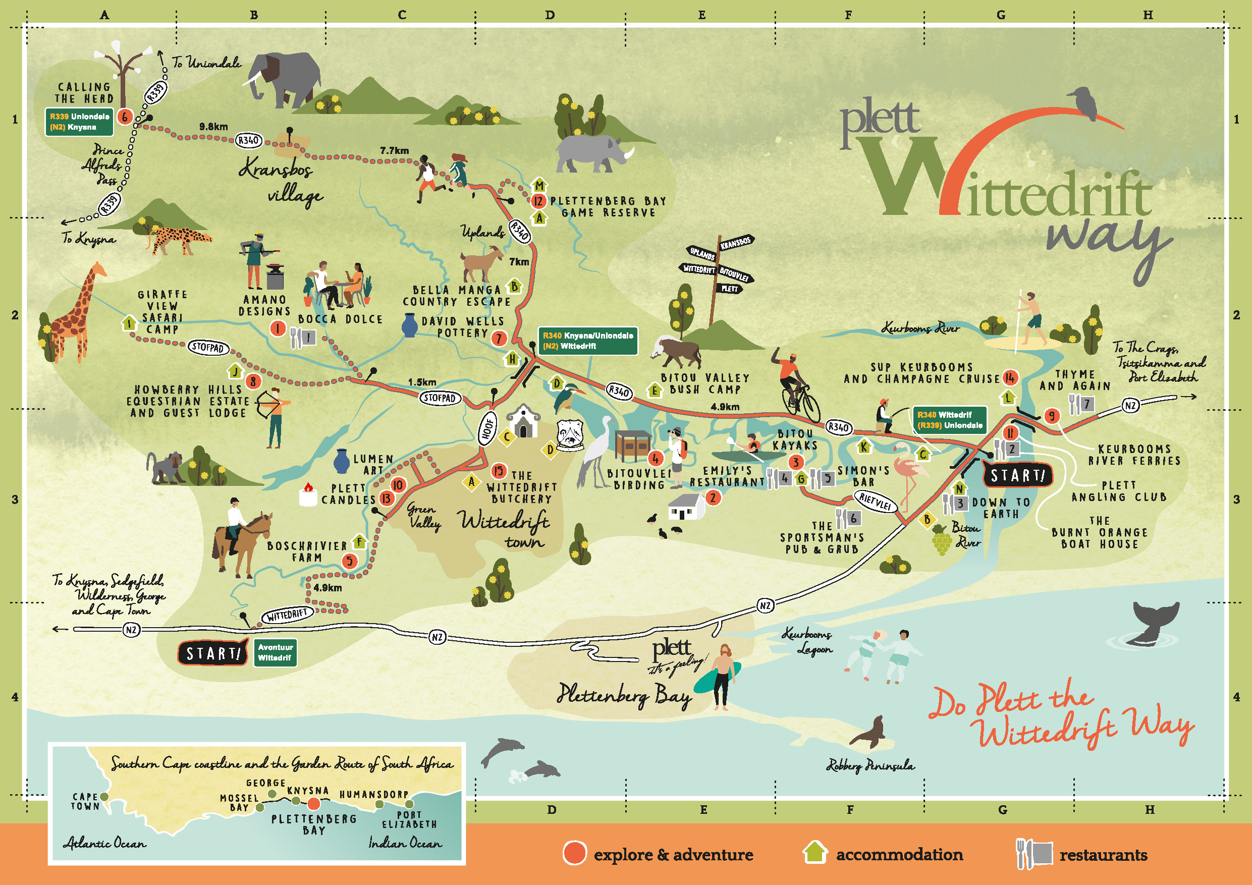 Wittedrift Way map 2019