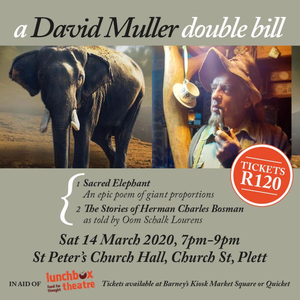 A David Muller Double Bill drama in Plettenberg Bay
