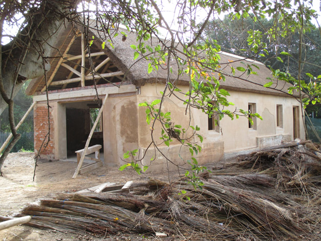 The renovation of the old classroom where Leigh's grandfather taught from 1912 to 1951 when they moved to Main Street. This classroom building is now the spa building at the Old Rectory Hotel where the heritage talk and tour will start.