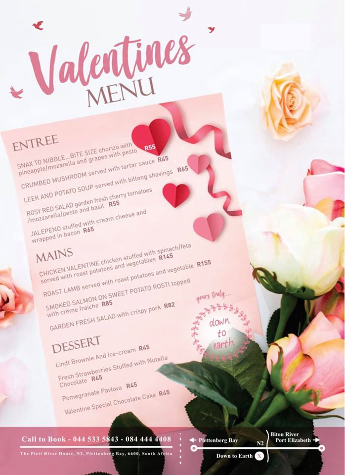 Down to Earth Valentine's Dinner 14 Feb 2020