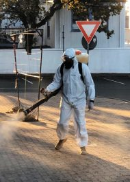 Decontamination spraying of Plett against COVID-19 underway