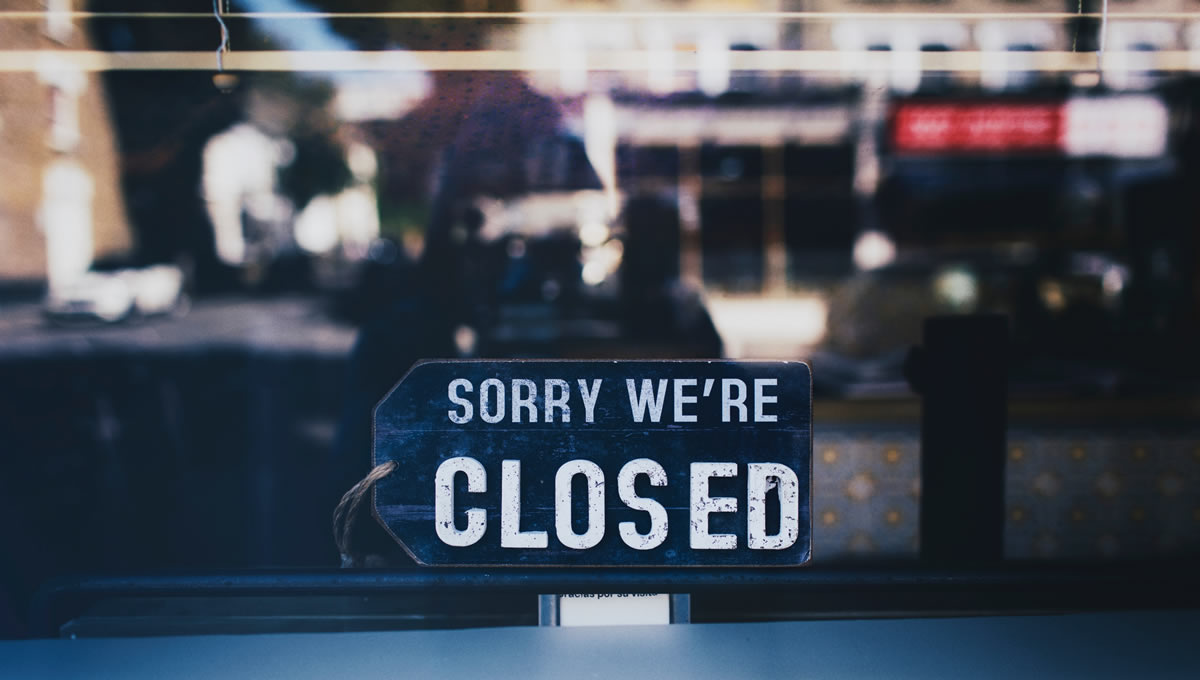 Restaurants closed during lockdown