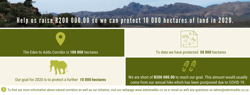 Donate to help protect 10 000 hectares of land