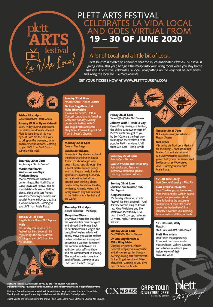 Plett ARTS Festival 2020 programme