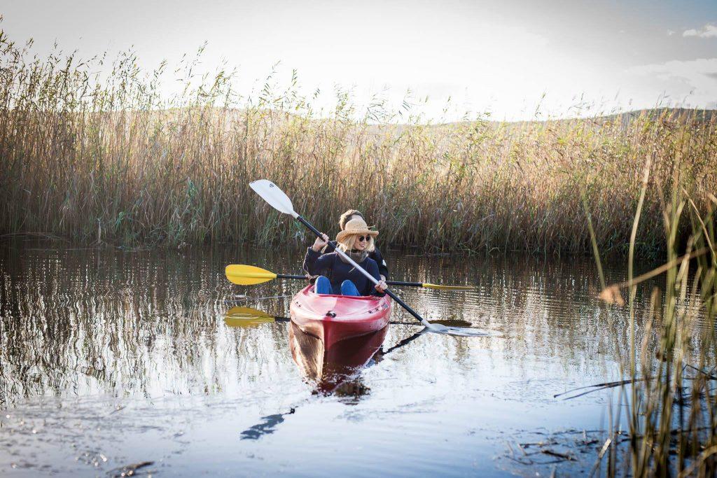 Emily Moon paddling on Bitou river
