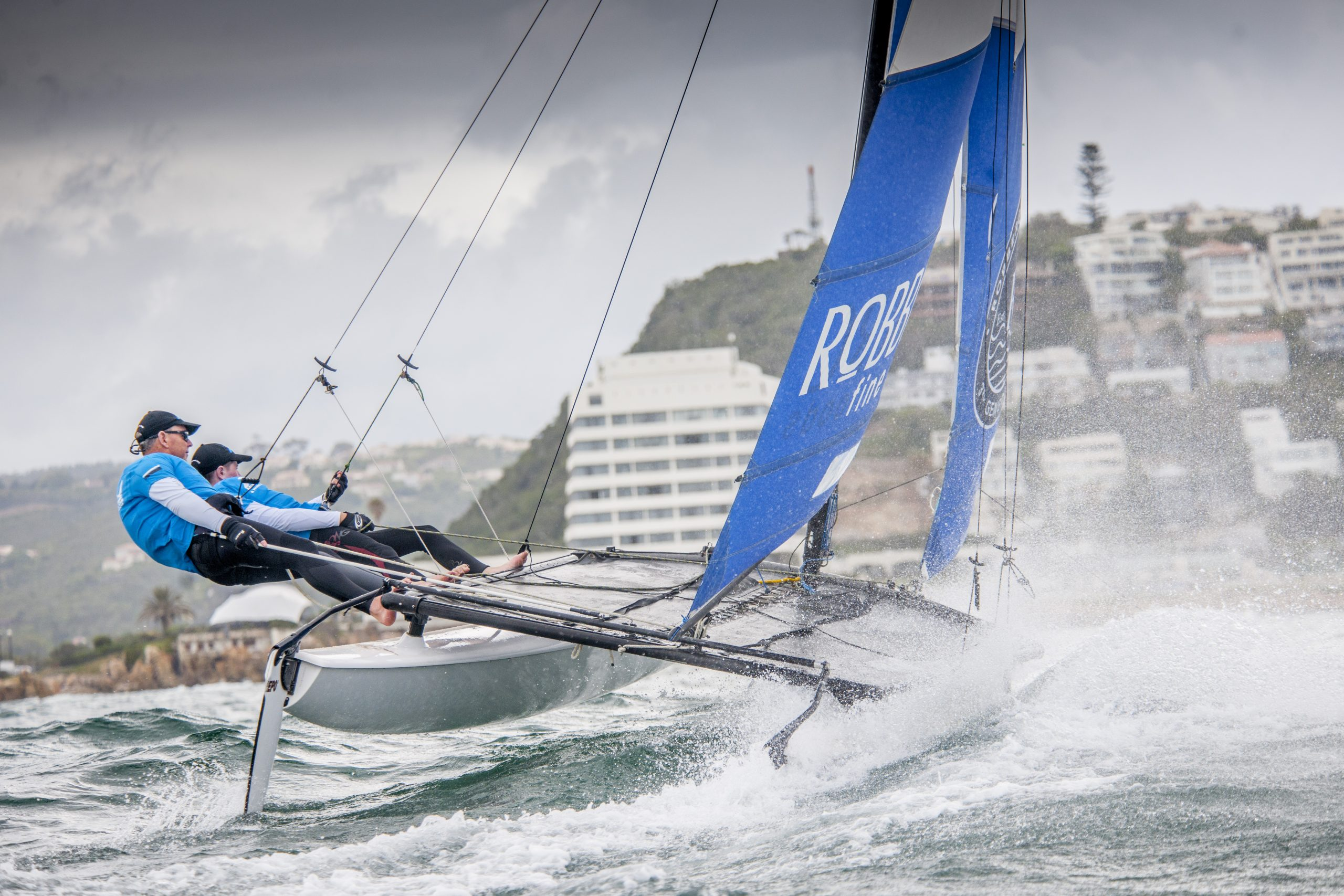 Blaine Dodds sailing in Plett Hobie 16 Nationals Regatta