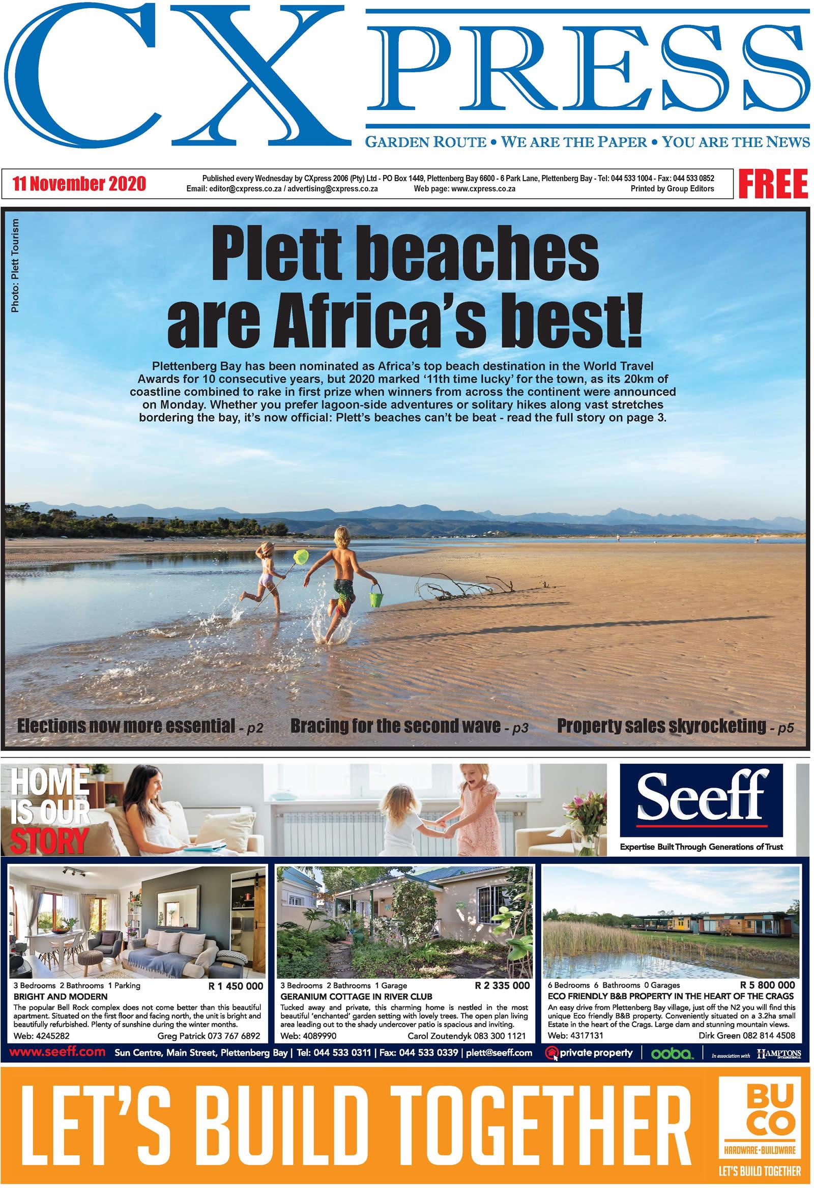 CXPress - Plett wins award for best beaches