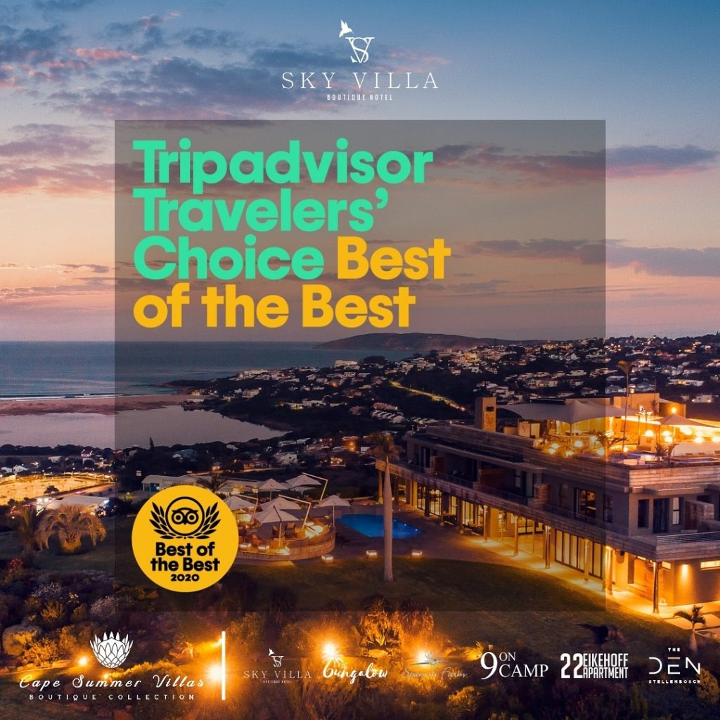 Sky Villa Travellers Choice award - Best of the Best