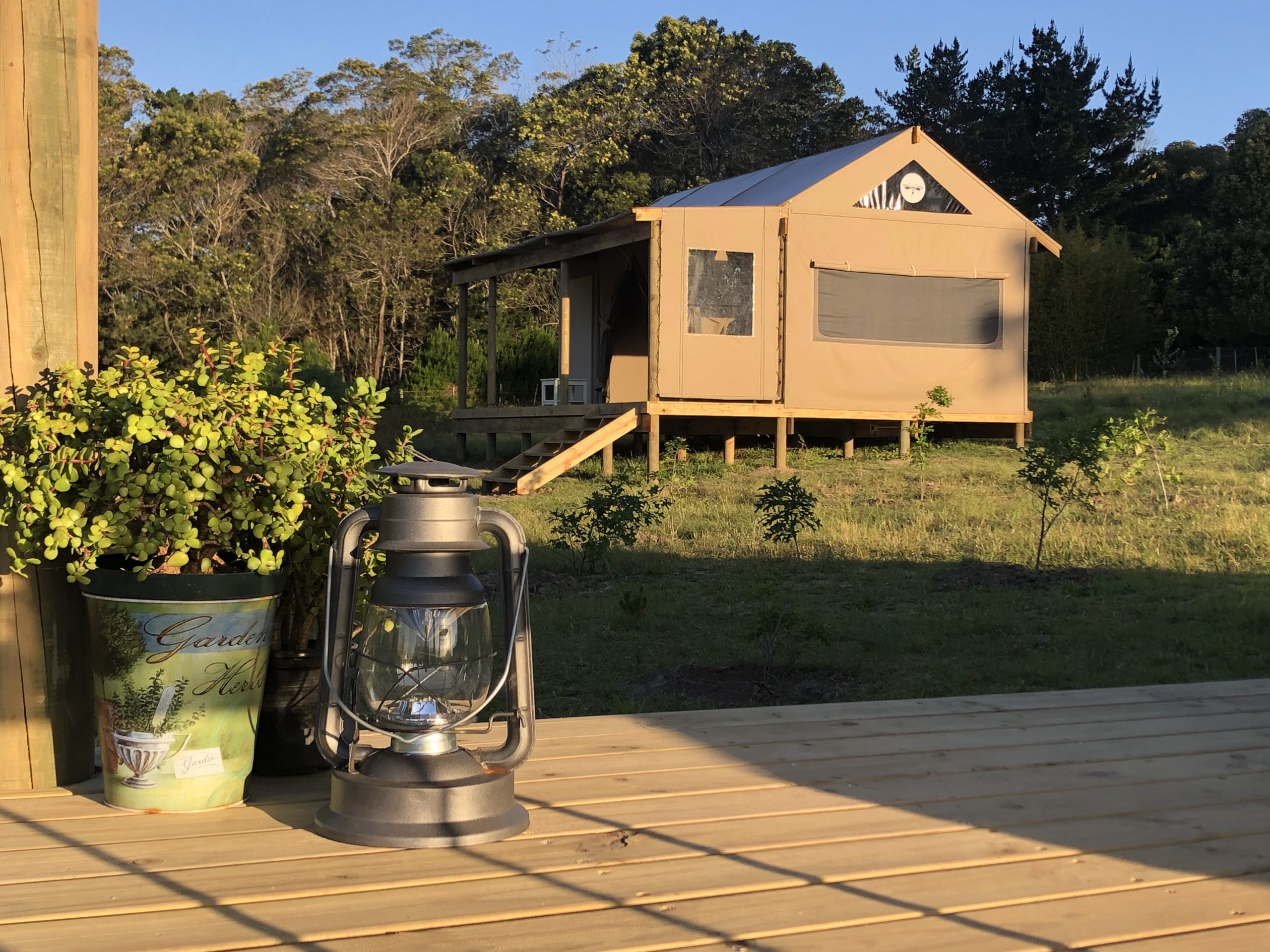 FireFly Luxury Tents are spaciously designed glamping tents, set in a field of dreams, in Harkerville, just outside Plettenberg Bay in the Western Cape.