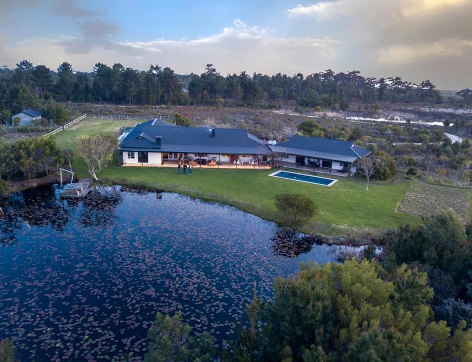 Drone view of Zolewa Lodge in Plettenberg Bay