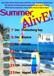 Eden FM radio summer alive campaign