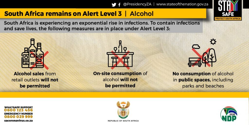 Sale of alcohol prohibited in SA under adjusted Alert Level 3