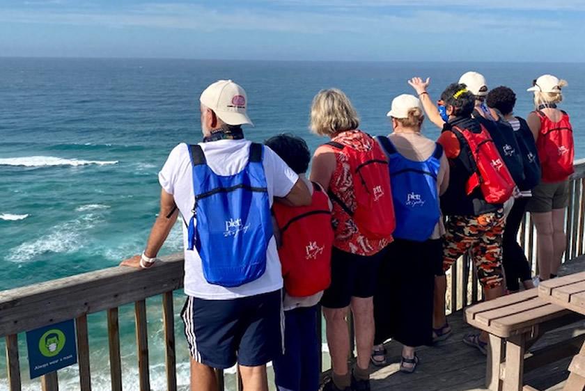 Tour guides visit Plett on Cradle of Human Culture fam trip