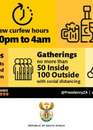 SA in Level 3 Lockdown from 16th June