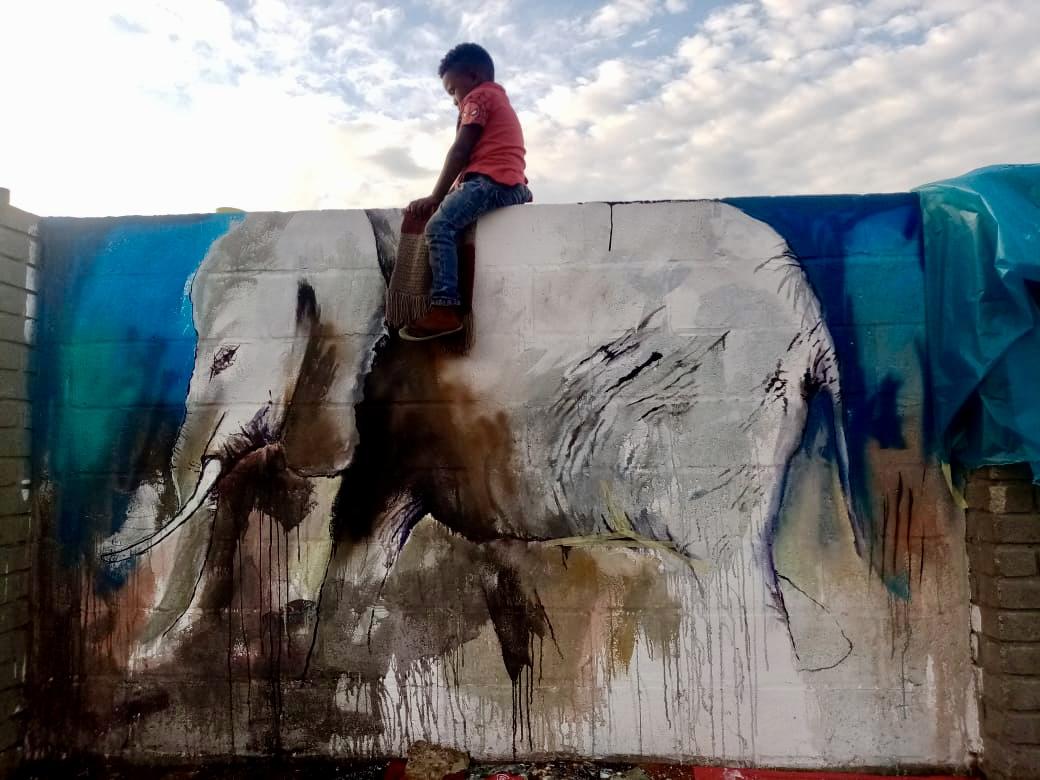 Mural on Kwa-Nokuthula Stadium Walls