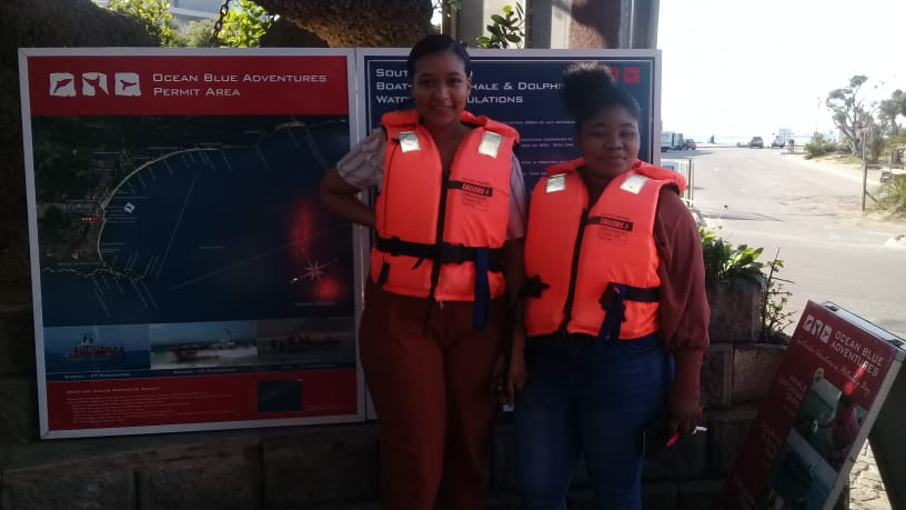 Brayley and Andy take a boat trip on World Oceans Day
