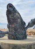 """Central Beach whale sculpture gets a name – """"Sindi"""""""