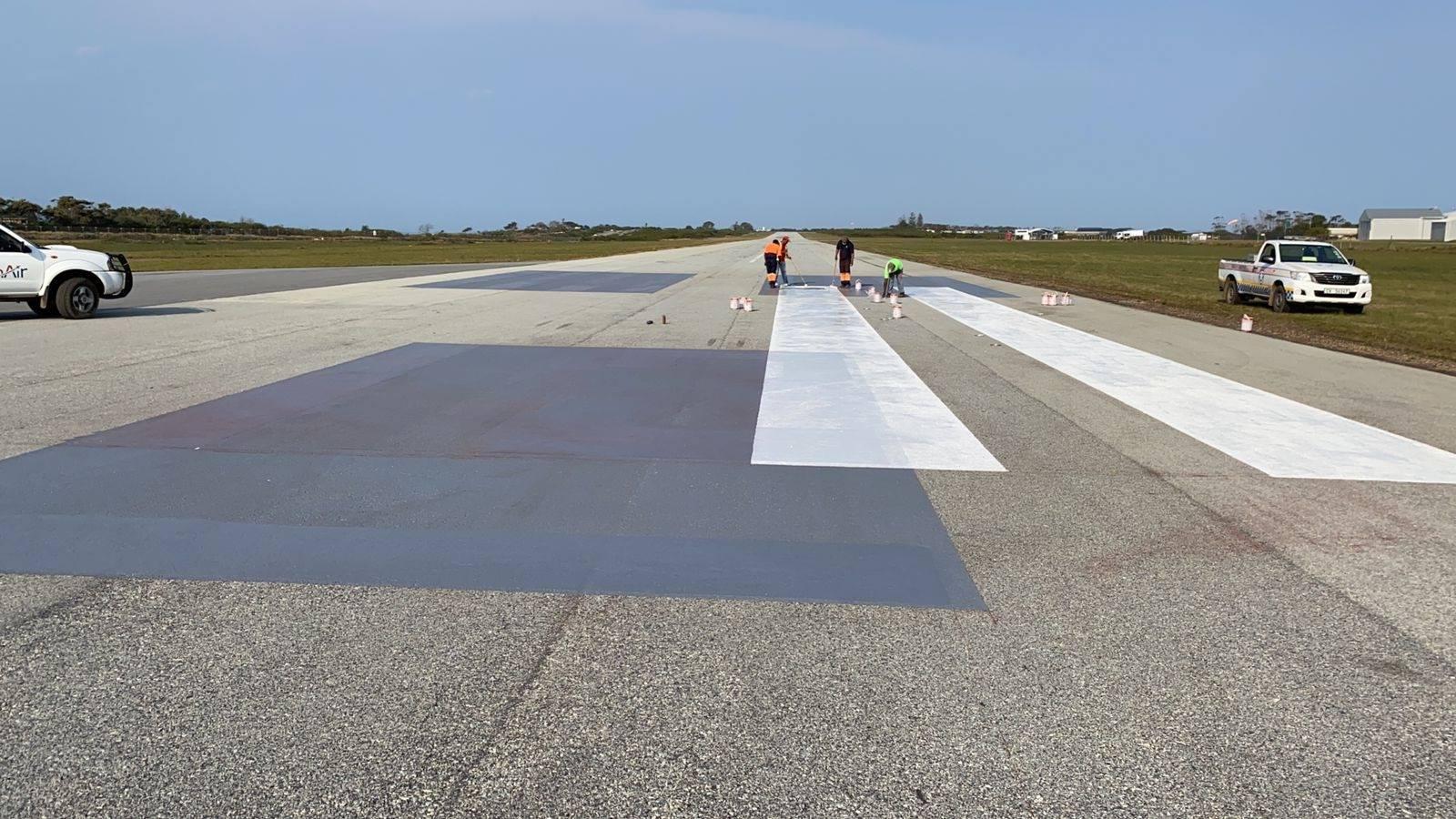 plett airport repairing painting runway