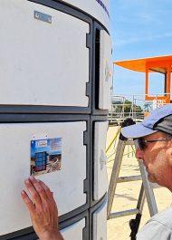 Launching keyless beach lockers for Plett